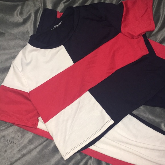 White, blue, and red color black set